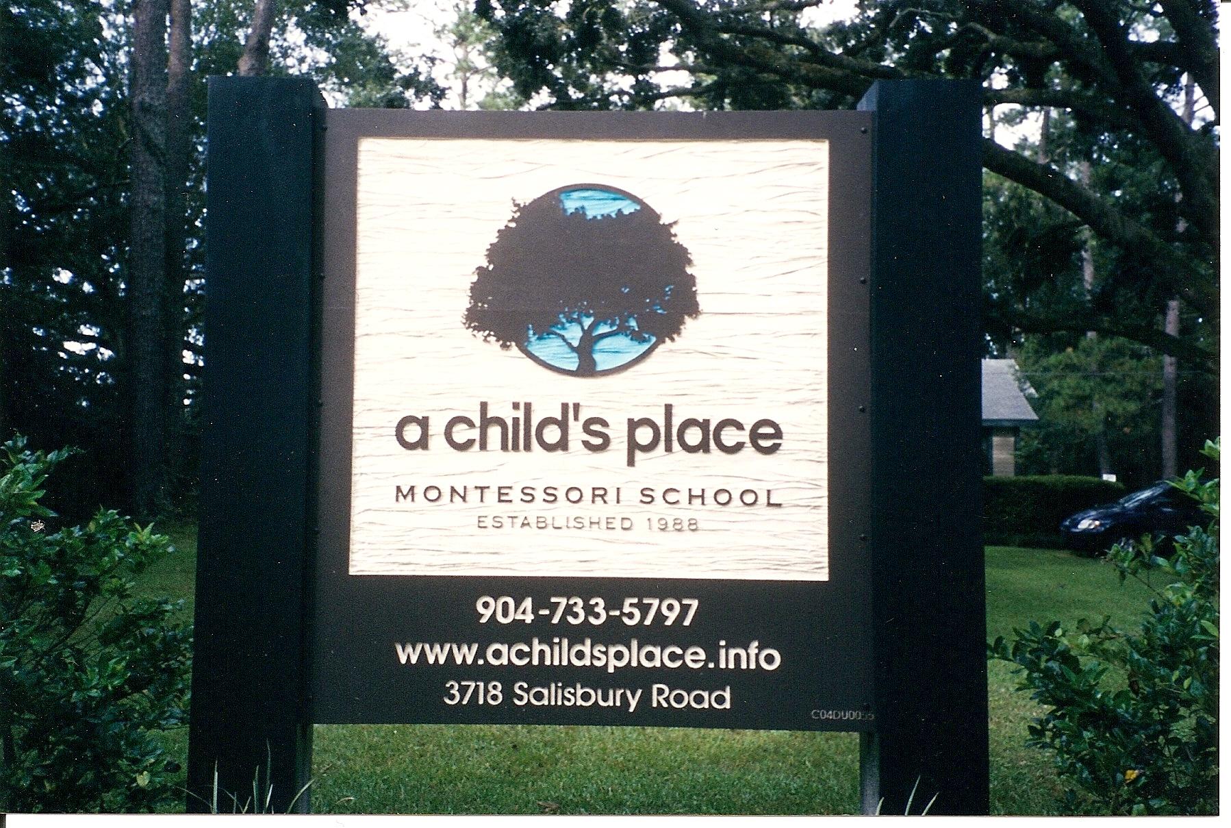 daycare signs shimp sign design